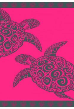 Drap de plage Fuschia Turtle