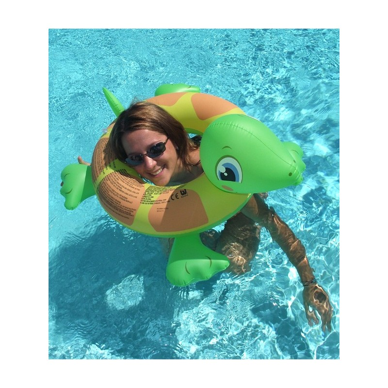 Bou e gonflable t te tortue for Animaux gonflable piscine
