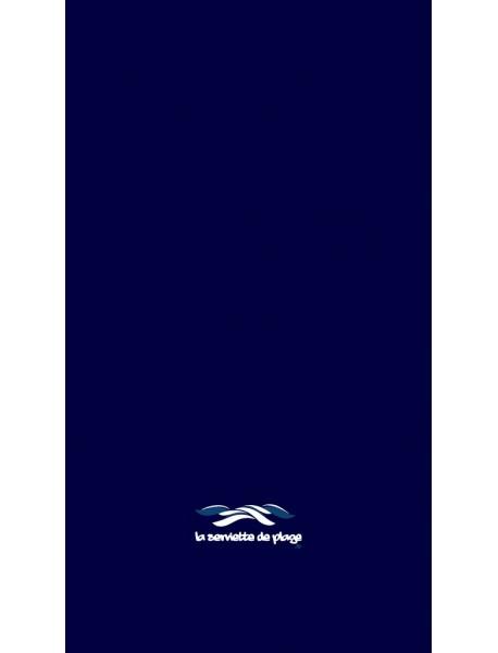 Serviette de bain Uni Navy