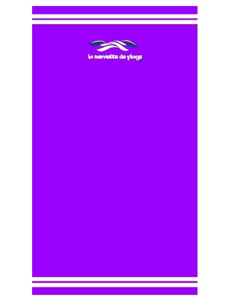 Drap de bain Purple Coco