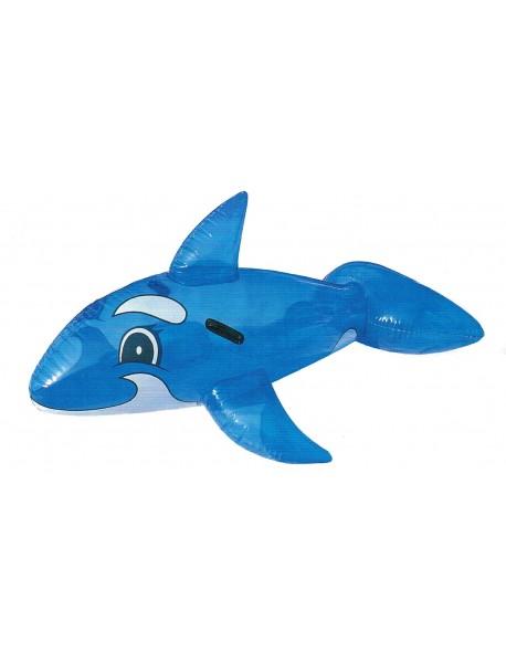 Dauphin Gonflable Bleu Transparent