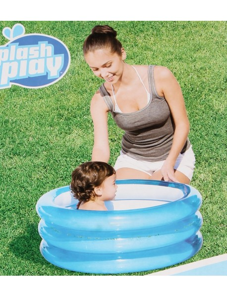 Piscine ronde pour b b s 3 boudins 70cm for Piscine gonflable 2 boudins