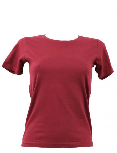 T-shirt femme prune col rond