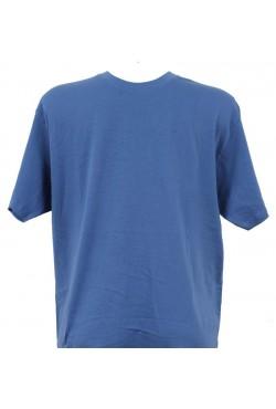 T-shirt homme bleu roi col rond