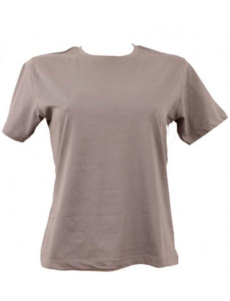 T-shirt femme gris col style en rond