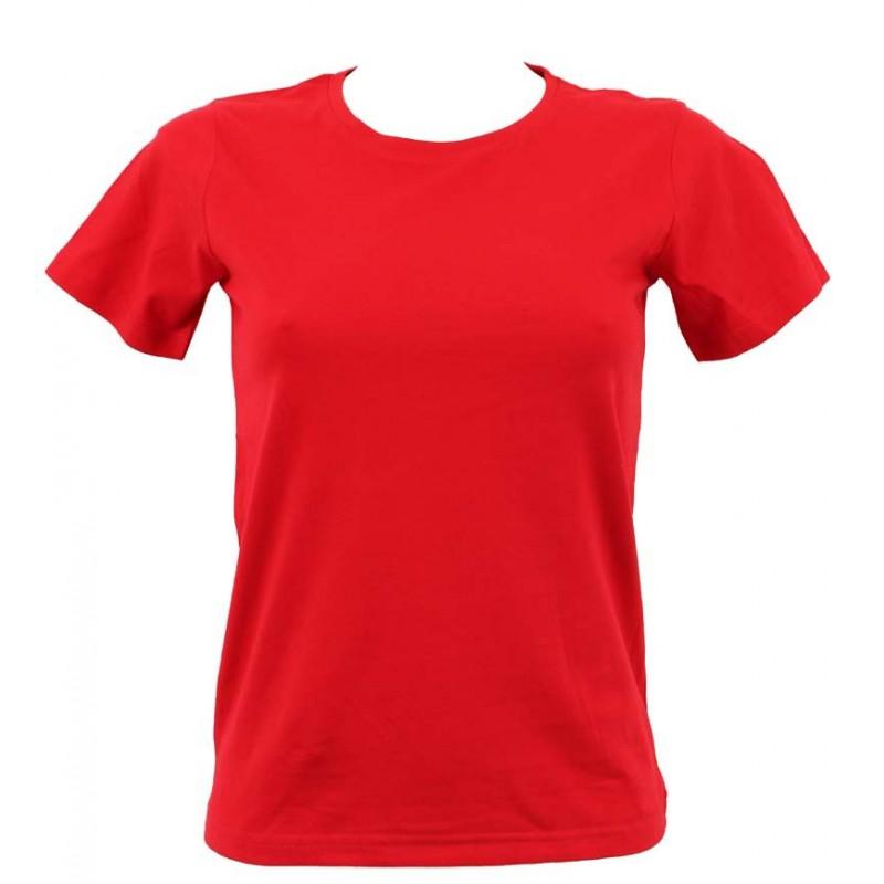 a873e5d2196f T-shirt femme rouge col rond - LaServietteDePlage.fr