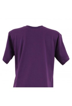 T-shirt homme violet col rond