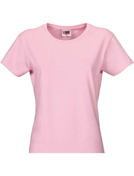 T-shirt femme pink col rond