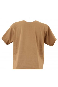 T-shirt homme caramel col rond