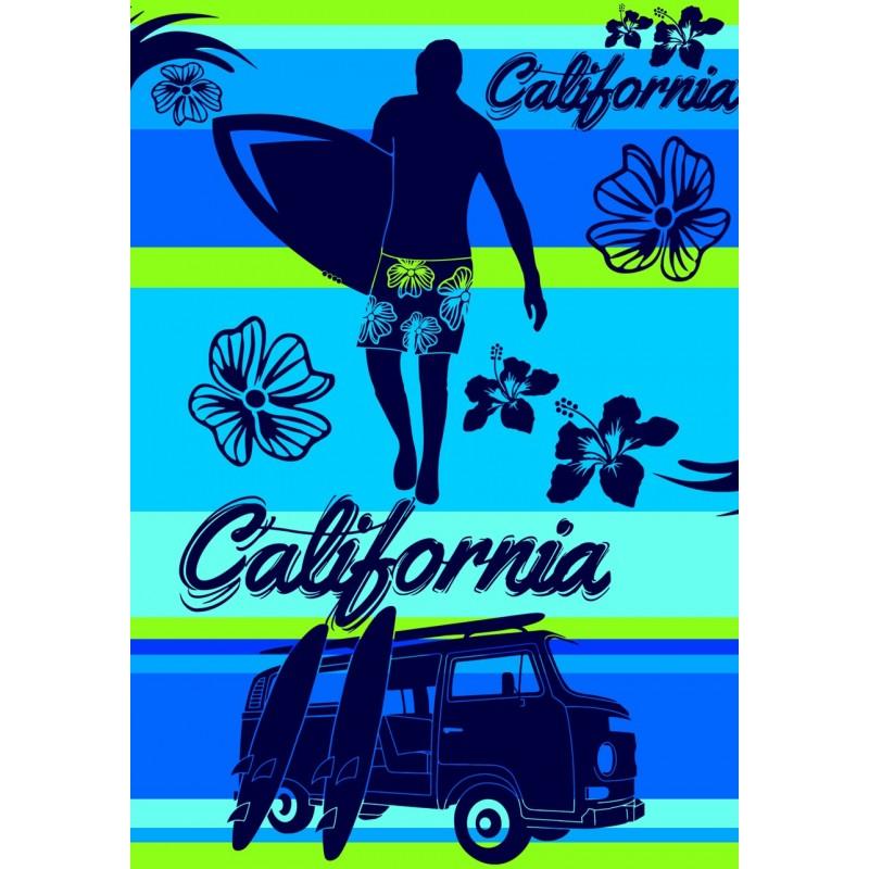 drap de plage taille xl california blue. Black Bedroom Furniture Sets. Home Design Ideas