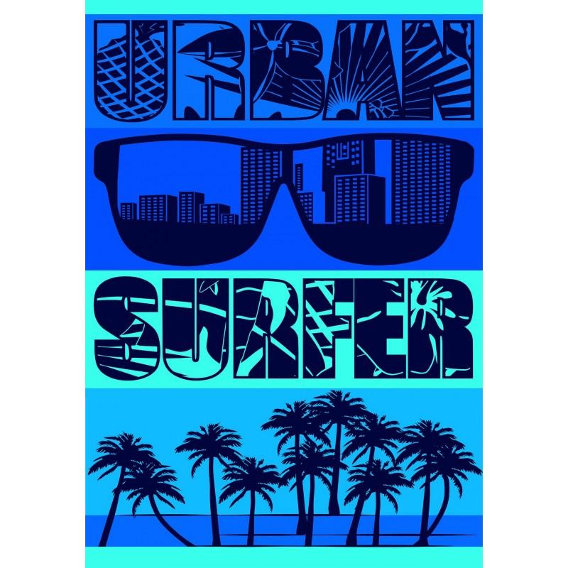 drap de plage taille xl urban surfeur. Black Bedroom Furniture Sets. Home Design Ideas