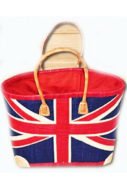 Panier Flag UK contour Rouge