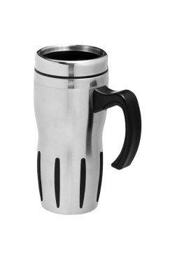 Mug Isotherme Tech Argent Noir