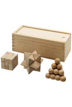 Casse-tête Chinois en bois 3 pièces marron
