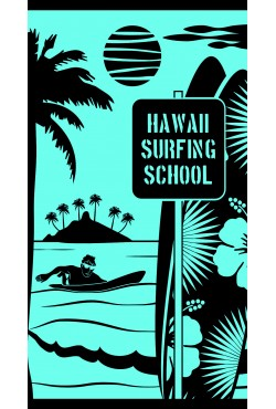 Drap de plage Hawai School