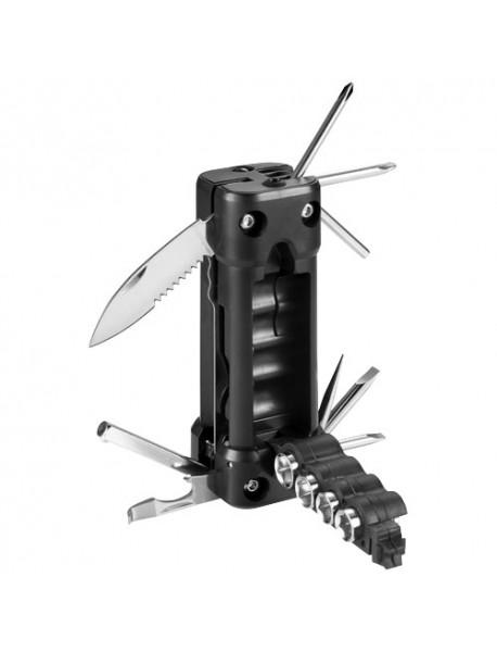 Lampe de poche multi-outil laser 16-en-1 Noir