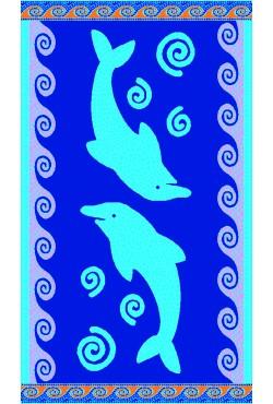 Serviette de plage Mosaic Dolphins