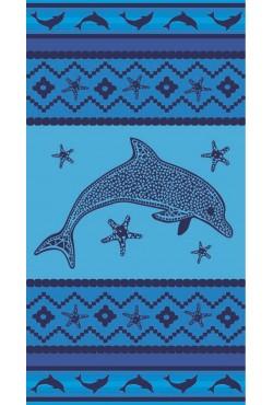Serviette de plage Navy Dolphin