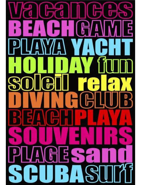 Maxi drap de plage Fun Game