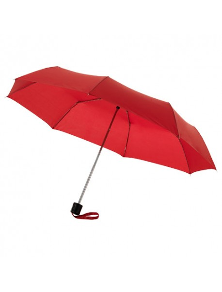 "Parapluie 21.5"" - 3 sections, rouge"
