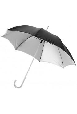 "Parapluie Aluminium 23"", argent / noir"