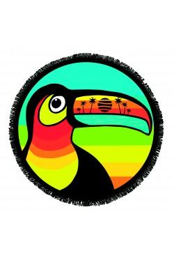 Serviette de plage ronde Toucan