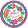 Serviette de plage ronde Summer Tropical