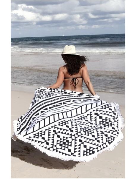 Serviette de plage ronde Impéria Azteca