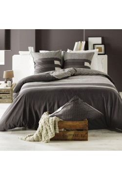 Housse de couette + taie Kea Taupe