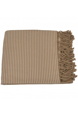 Fouta Nid d'abeille Taupe