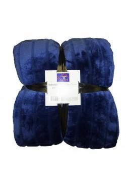 Plaids fourrure Bleu